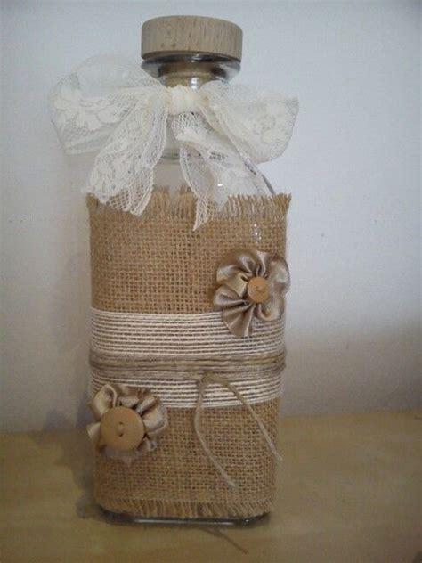 decorar jarrones con yute botella florero decoraci 243 n botella decorada con varios