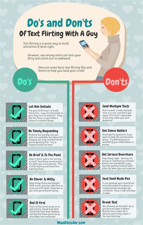 8 Dos On Dates by Text Flirting Dos And Don Ts Infographic Decoder