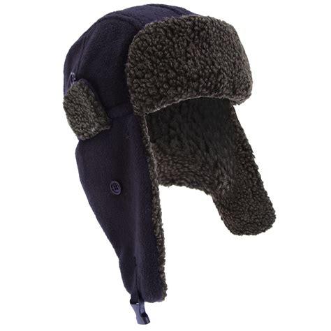 Trapper Hat mens fleece thermal winter trapper ski hat
