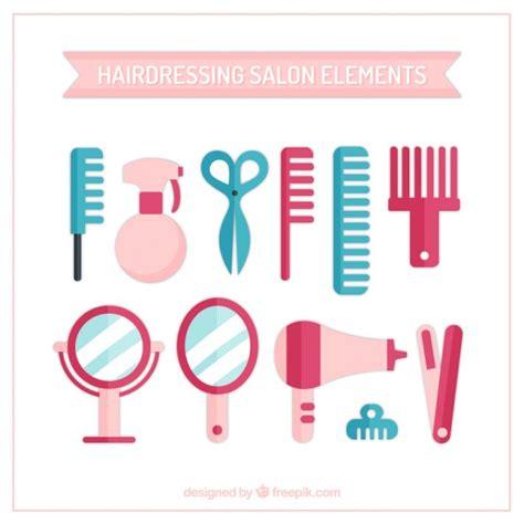 Hair Dresser Salon by Hairdressing Salon Elements Vector Free