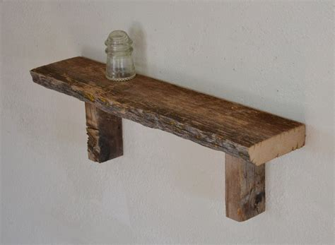 reclaimed barn wood wall shelf simple  unique  inches