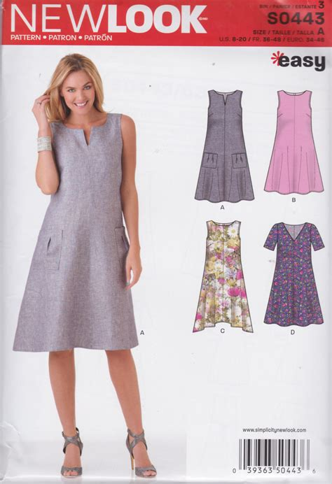free pattern simple shift dress new look pattern s0443 or 6430 easy pullover a line shift