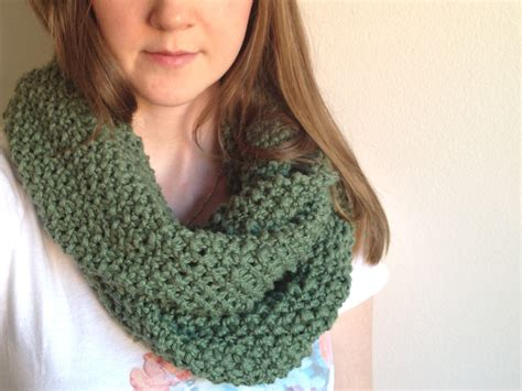 Pattern For Knitting An Infinity Scarf | seed stitch infinity scarf pattern images
