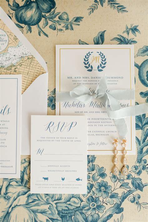 wedding invitations waterford mi nautical wedding invitation stationery design