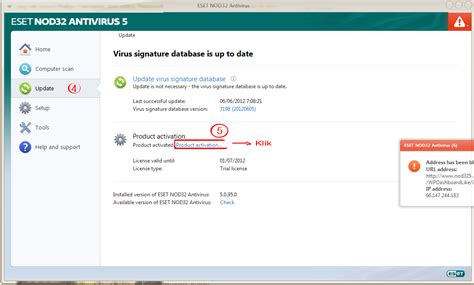 cara upgrade full version eset nod32 antivirus 4 update eset nod32 dengan username and password