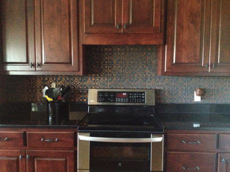 tin backsplash for kitchen tin backsplash kitchen ideas pinterest