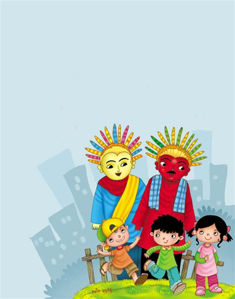 Kaos Betawi Ondel Ondel ondel ondel boneka khas kesenian betawi 171 scetiz wisata