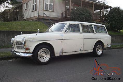 1966 volvo 122s wagon 122 white running