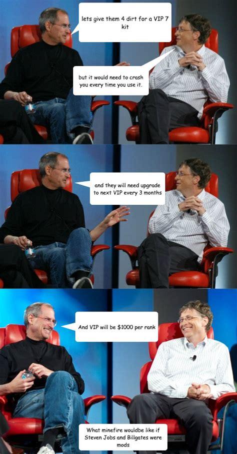 Bill Gates And Steve Jobs Meme - steve jobs vs bill gates memes