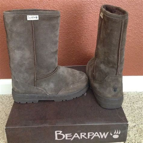 cheap paw boots 37 bearpaw shoes brown paw boots from
