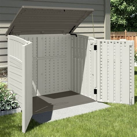 Garden Storage Buildings Suncast Kensington Six Horizontal Outdoor Storage Shed