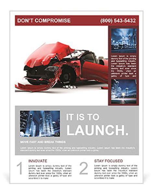 crash card template car crash flyer template design id 0000007160