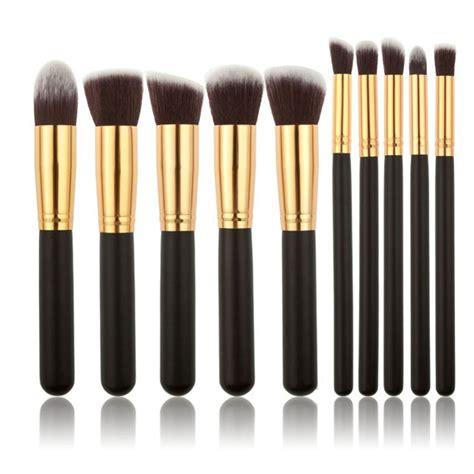 Images Sweet Eyebrow Pinsil Alis oval makeup brushes 10pcs make up foundation blending