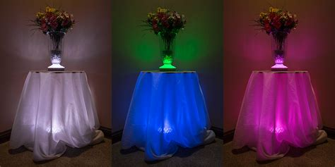 color changing light table blue led lights for centerpieces roselawnlutheran