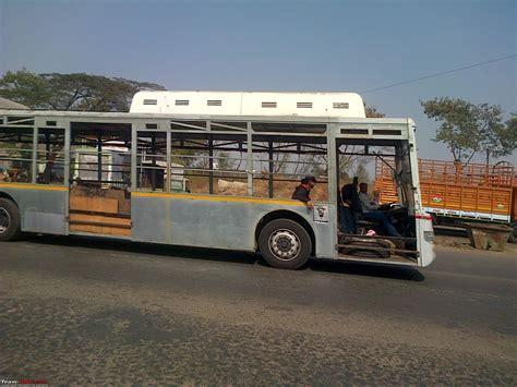 scoop   volvo bus  test  bangalore team bhp