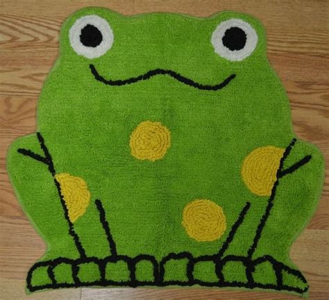 frog bathroom rug frog bathmat kitchen rug by bath style 24 quot x 26 quot 100