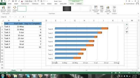 tutorial excel 2013 charts microsoft excel gantt chart tutorial how to create a