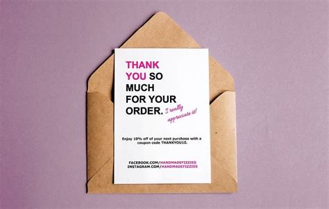 free after purchase card template thank you for your purchase note free template diy