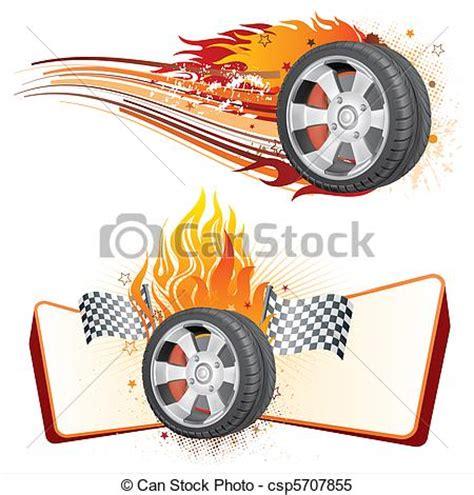 wheel  flame fiery racing tire automobile race element