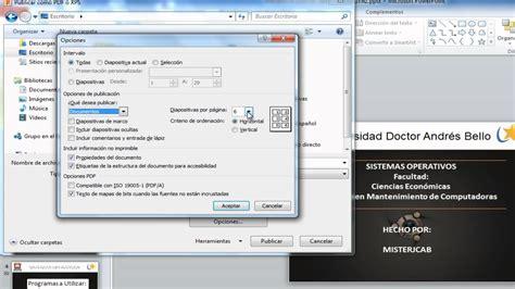 pasar imagenes a un pdf como convertir un archivo de power point a formato pdf sin
