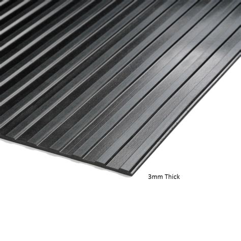 10 mm ribbed rubber matting cobarib wide ribbed rubber matting per metre ese direct