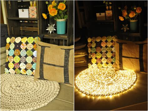 crochet light rug diy easy crochet string light carpet