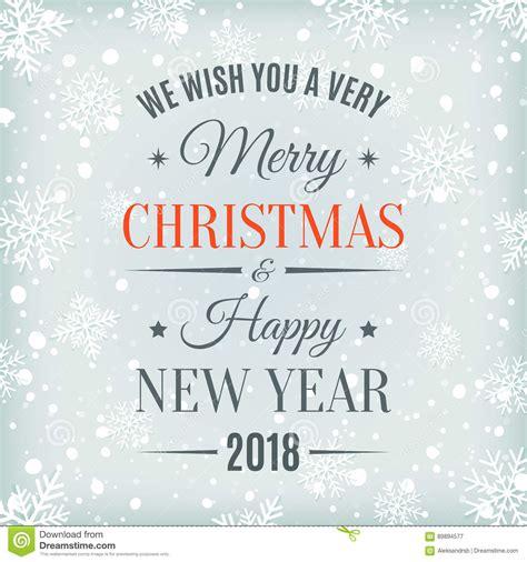 new year 2018 period vrolijke kerstmis en gelukkige nieuwjaar 2018 kaart vector
