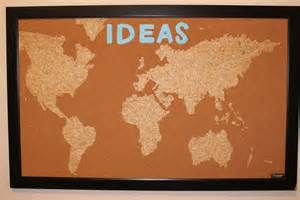 hcf featured craft of the week diy cork board map from