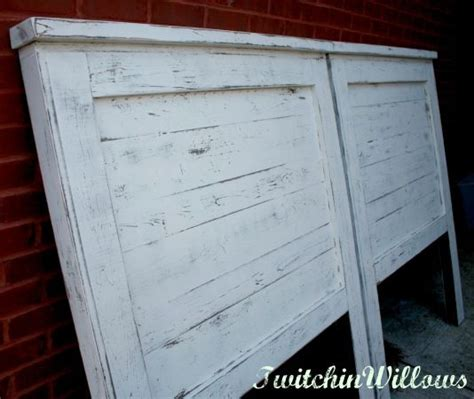 Distressed White Headboard by White Distressed Headboard For The Spare Bedroom