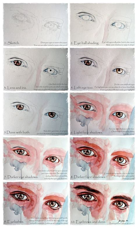 watercolor eyeshadow tutorial watercolor eyes in flesh tone tutorial by jane beata on