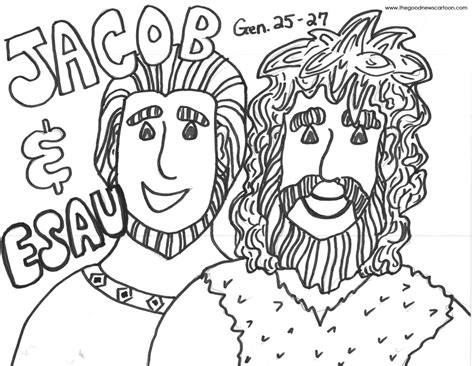 coloring page jacob and esau jacob and esau coloring kids coloring europe travel