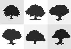 Forest Green Hex oak tree silhouette download free vector art stock