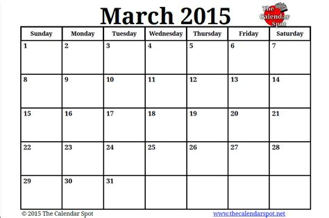 image gallery march calendar 2015