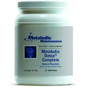 Metabolic Maintenance Metabolic Detox Complete by Metabolic Detox Complete Chocolate 21 Serv By Metabolic