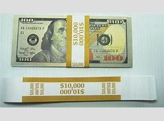 100 Mustard $100 Self Selling Currency Bands $10,000 Cash ... $10000 Bill For Sale