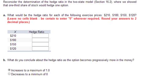 section 162 a 2 reconsider the determination of the hedge ratio in