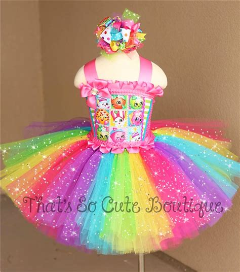 Dress Tutu Girly shopkins tutu dress shopkins birthday dress rainbow