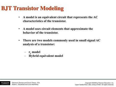 bjt transistor modeling ppt ppt chapter 5 bjt ac analysis powerpoint presentation id 5588788