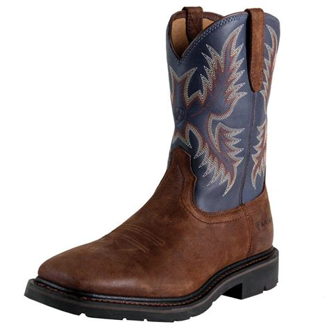 ariat mens square toe work boots