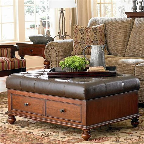 How To Decorate An Ottoman Coffee Table Versatile Decorating With Ottomans