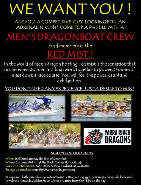 dragon boat docklands men s red mist dragon boating come try day melbourne