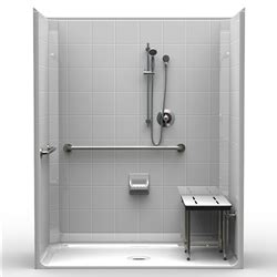 ada shower stall best bath systems video 5piece ada roll in shower one piece 63x33 8 inch tile look