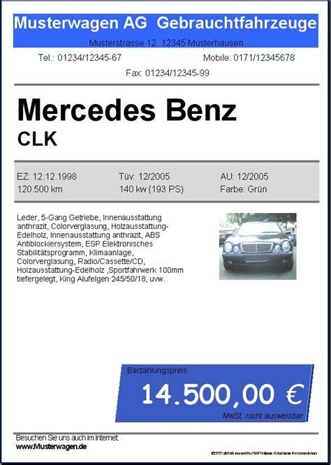 Vorlage Word Preisschild Automobil Handel Kfz Tool V1 0 Rev 1 2