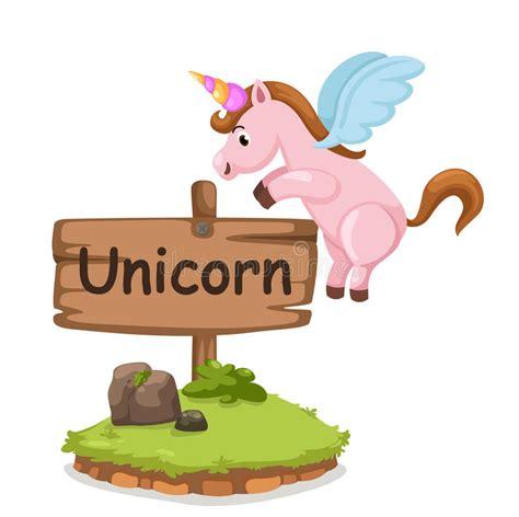 animal alphabet u unicorn stock vector image 7600203 animal alphabet letter u for unicorn stock vector