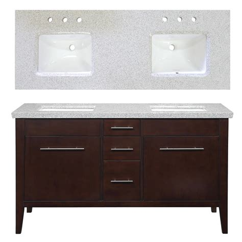 bathroom double vanities with tops enlarged image