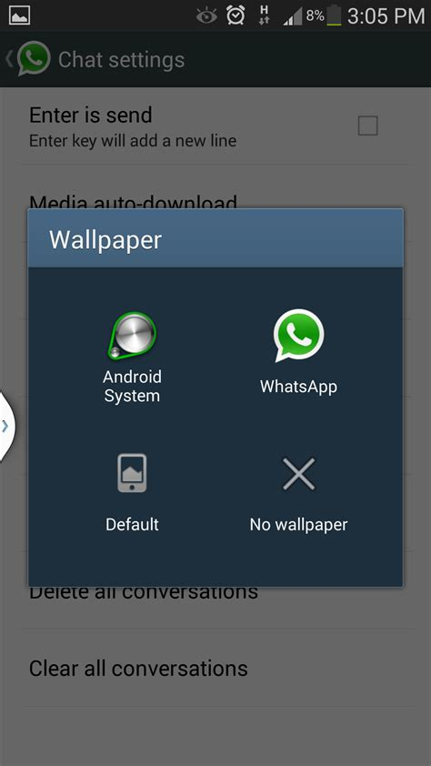 wallpaper whatsapp msg whatsapp messenger how to change the wallpaper