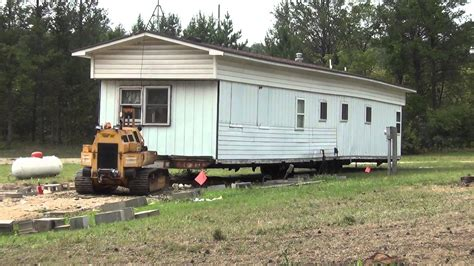 trailer house movers moving the trailer house youtube