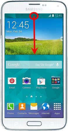 samsung galaxy s5 how to use quick settings panel in use the notifications panel on samsung galaxy s5 visihow