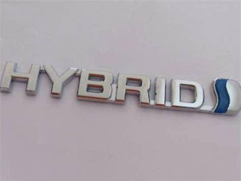 Emblem Crome Original Tulisan Astra Toyota emblem tulisan hybrid chrome ukuran 15 2x2cm
