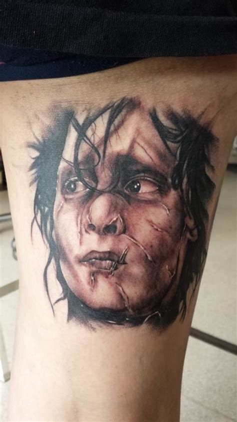 edward scissorhands tattoos done by meeee pinterest